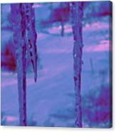 Cold Night Falling Canvas Print