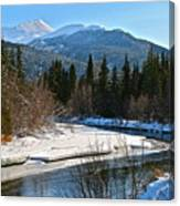 Cold River Bend Canvas Print