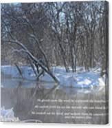 Cold-snow Canvas Print