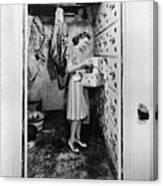 Cold Storage Room, C1940 Canvas Print