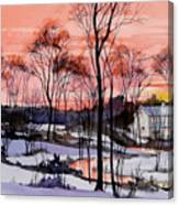 Cold Sunset Canvas Print