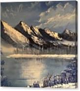 Cold Winter Lake Canvas Print