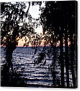 Cold Winter Sunset Canvas Print