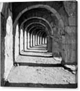 Coliseum Corridor Canvas Print