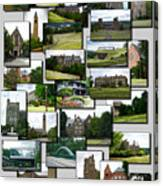 Collage Cornell University Ithaca New York Vertical 02 Canvas Print