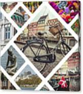 Collage Of Copenhagen  Canvas Print
