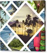 Collage Of Hawaii  Canvas Print