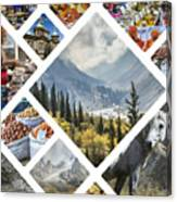Collage Of Kyrgyzstan Canvas Print