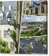 Collage Of Luxembourg Images Canvas Print