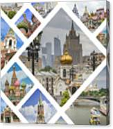Collage Of Moscow Canvas Print