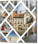 Collage Of Riga Canvas Print