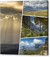 Collage Of Table Mountain Roraima  Canvas Print