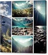 Collage Of Tatra Mountains  Canvas Print