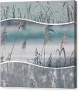 Collage Of Winter Time In Poland. Canvas Print