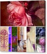 Collage So Rosey Canvas Print