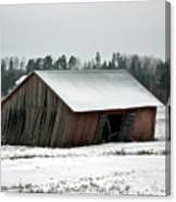 Collapsing Barn Canvas Print