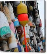 Collection Of  Buoys In Bar Harbor Maine Canvas Print