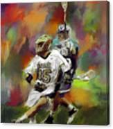 College Lacrosse 13 Canvas Print