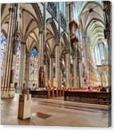 Cologne Cathedral Interior Canvas Print