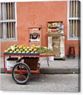 Colombia Fruit Cart Canvas Print