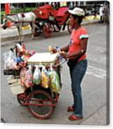 Colombia Srteet Cart Canvas Print