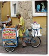 Colombia Srteet Cart II Canvas Print