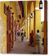 Colombia Walkway Canvas Print