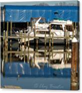 Colonial Beach Marina Canvas Print