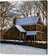Colonial Christmas Canvas Print