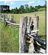 Colonial Fence At The Home Of Booker T Washington Canvas Print