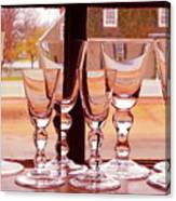 Colonial Glassware Canvas Print