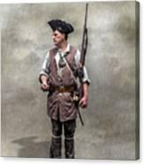 Colonial Militia Soldier 1777 Canvas Print