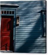 Colonial Red Door Newport Rhode Island Canvas Print