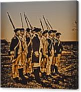 Colonial Soldiers On Parade Canvas Print