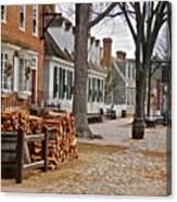 Colonial Street Scene Canvas Print