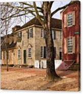 Colonial Street Scene Canvas Print