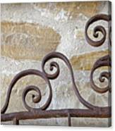 Colonial Wrought Iron Gate Detail Canvas Print