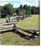 Colonial Zig Zag Fence At Booker T Washingtons Home Canvas Print