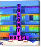 Colony Hotel Palm Canvas Print