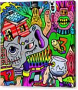 Color Bash Acid Tweeter Canvas Print