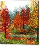 Color Burst Forest Canvas Print