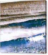 Color Movement-blue And Beige Canvas Print