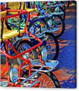 Color Of Bikes Canvas Print