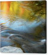 Color On The Swift River Nh Canvas Print