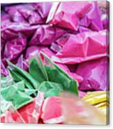 color pigments as an offering in the temple, Chennai, Tamil Nadu Canvas Print