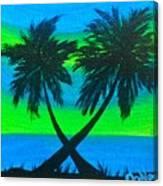 Color Pop Palms Canvas Print