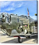 Color Side Wwii B-24j Canvas Print
