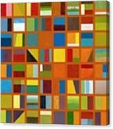 Color Study Collage 66 Canvas Print
