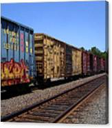 Color Train Canvas Print