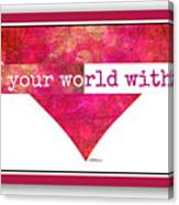 Color Your World 2 Canvas Print